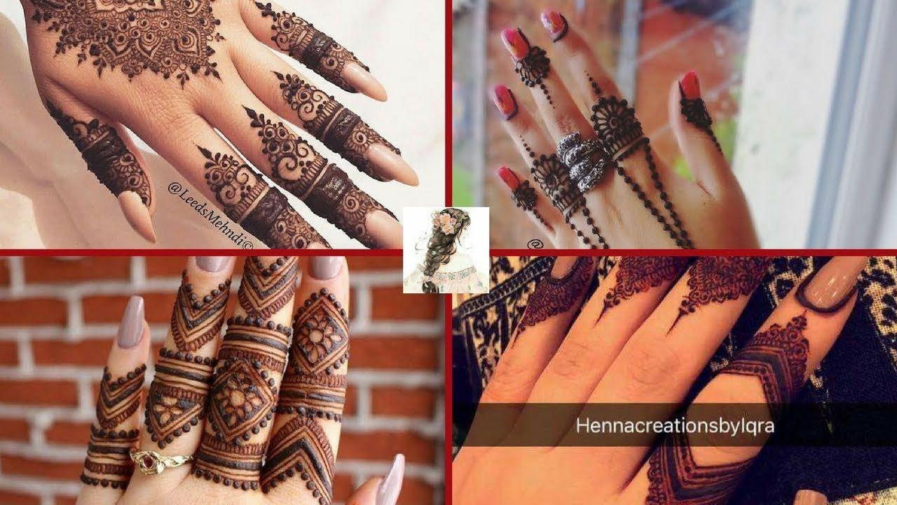 Mehndi Fingers Designs : Latest and easy fingers mehndi design part art