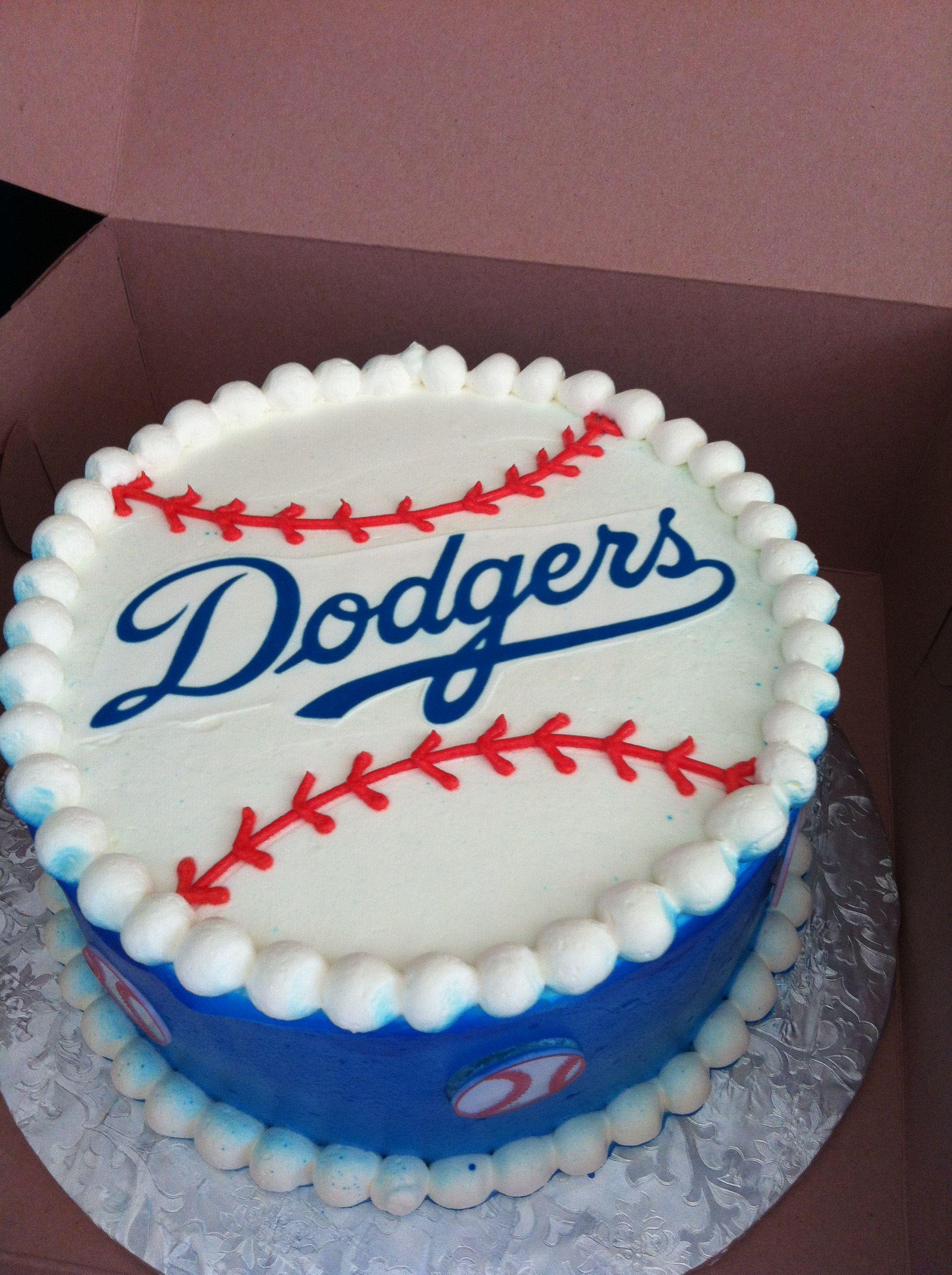 Stupendous Dodger Cake Dodgers Cake Dodgers Birthday Party Cupcake Cakes Funny Birthday Cards Online Benoljebrpdamsfinfo