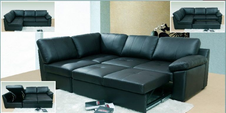 Black Leather Corner Sofa Bed Leather Corner Sofa Sofa Bed