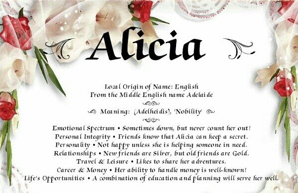 Alicia | Names with meaning, Biblical quotes, Names