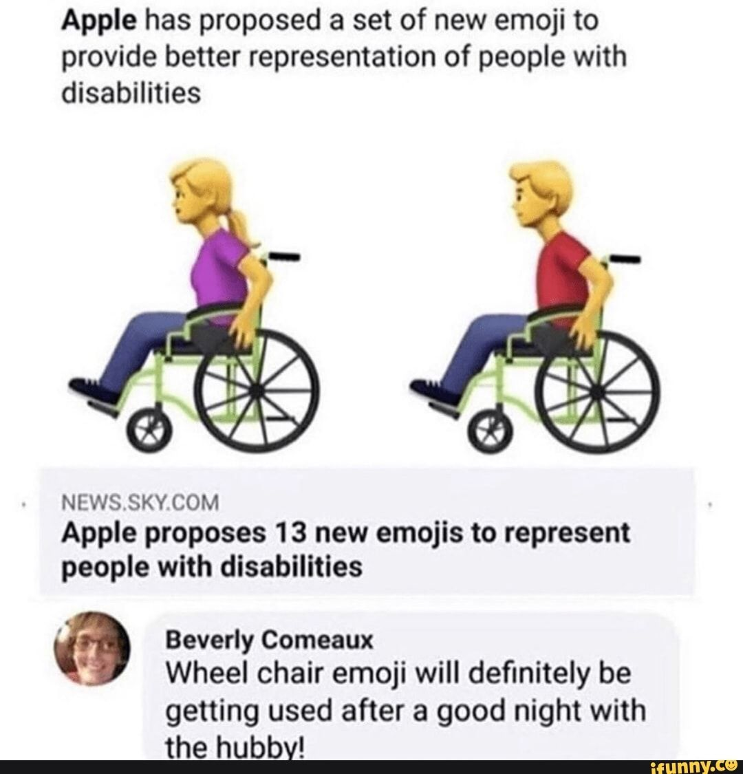 Apple Has Proposed A Set Of New Emoji To Provide Better Representation Of People With Disabilities Newssky Com Apple Proposes 13 New Emojis To Represent People In 2020 New Emojis