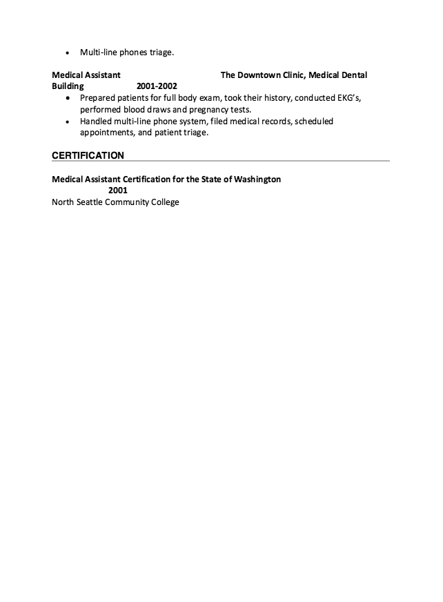 Medical Assistant  Dermatology Resume  HttpResumesdesignCom