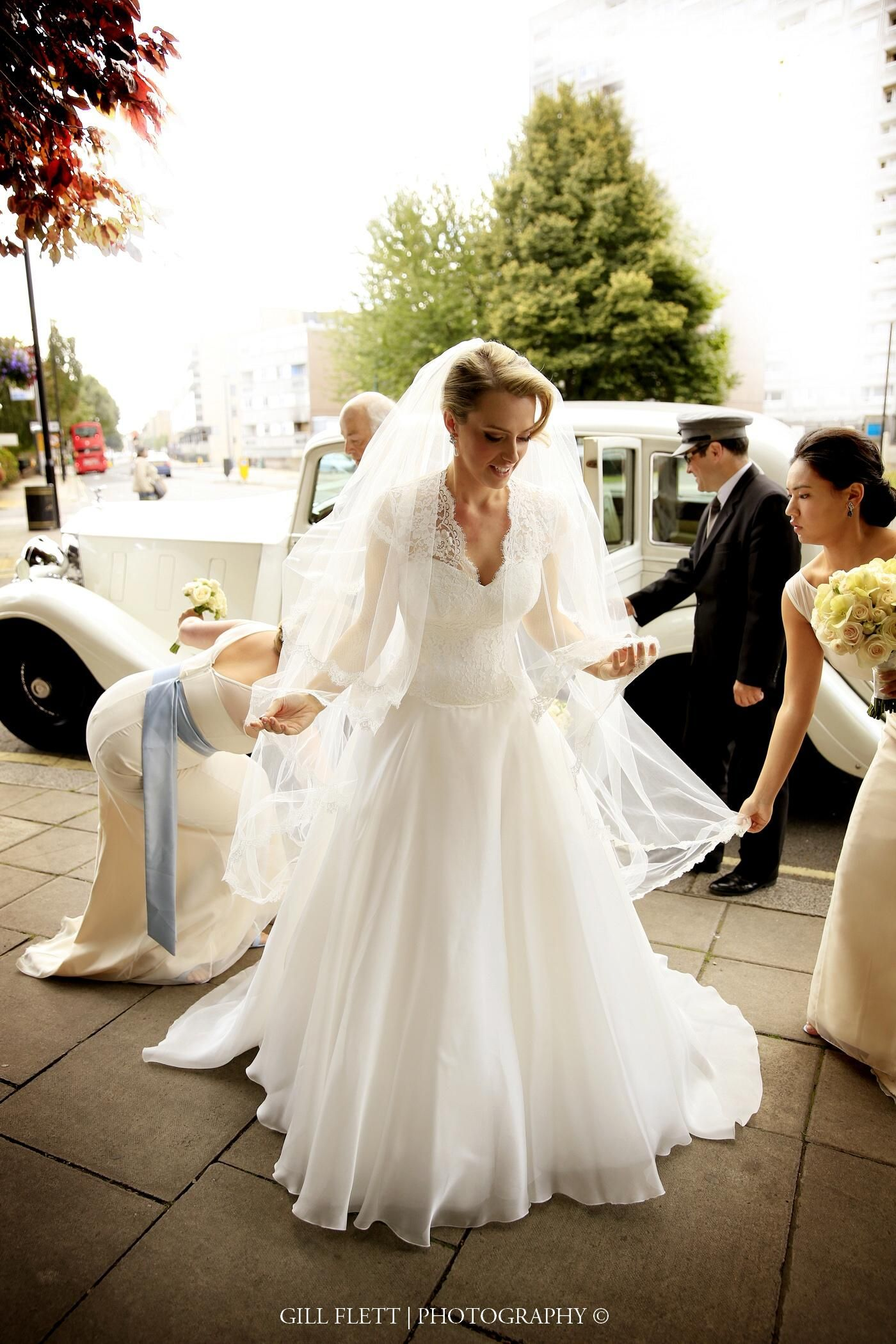One of our beautiful Real Brides Lauren wearing Suzanne Neville gown ...