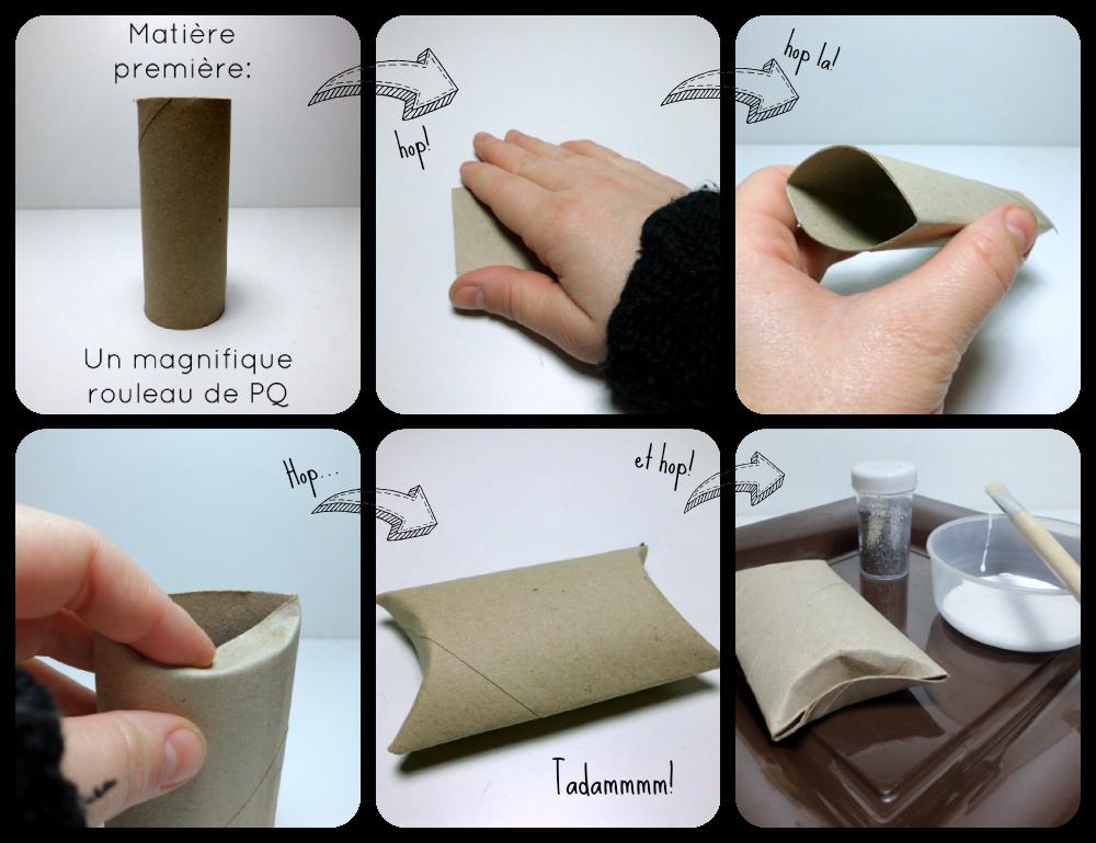 recyclage rouleau papier toilette tuto boite recyclage. Black Bedroom Furniture Sets. Home Design Ideas