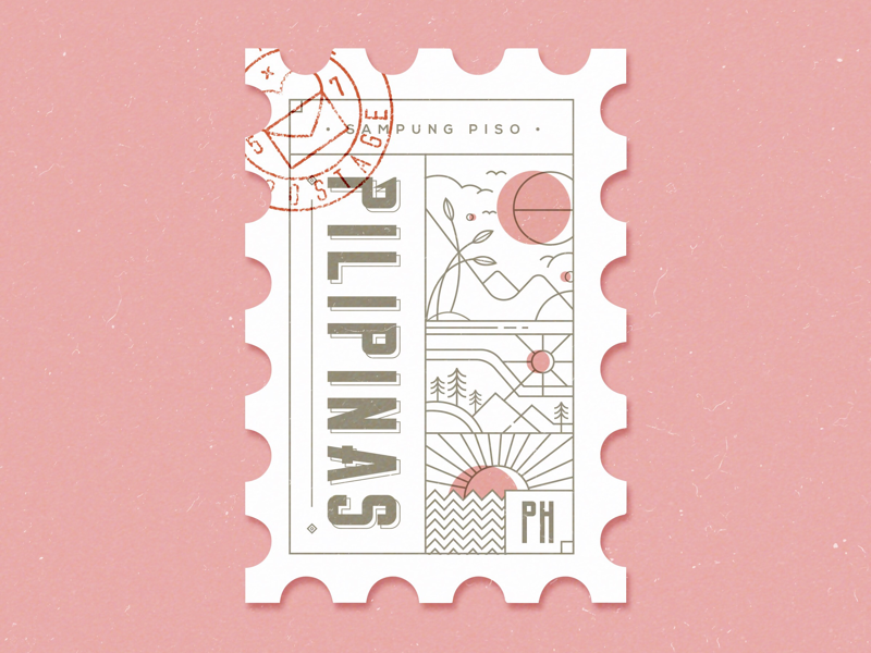 Philippine Postage Postcard Design Postage Stamp Design Travel Graphic Design