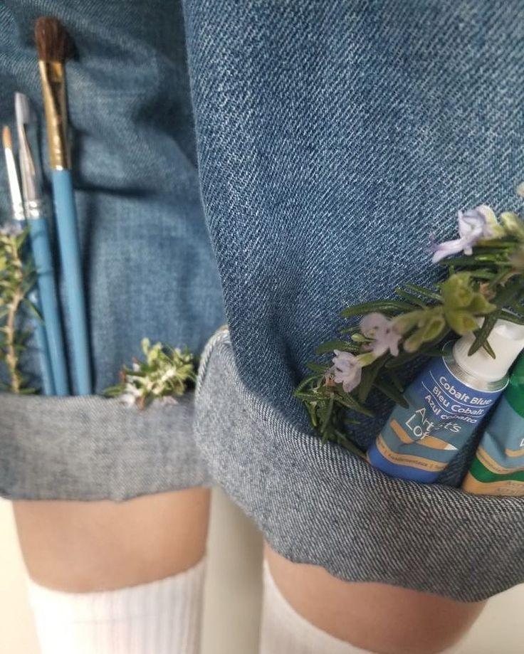 Art hoe aesthetic jeans