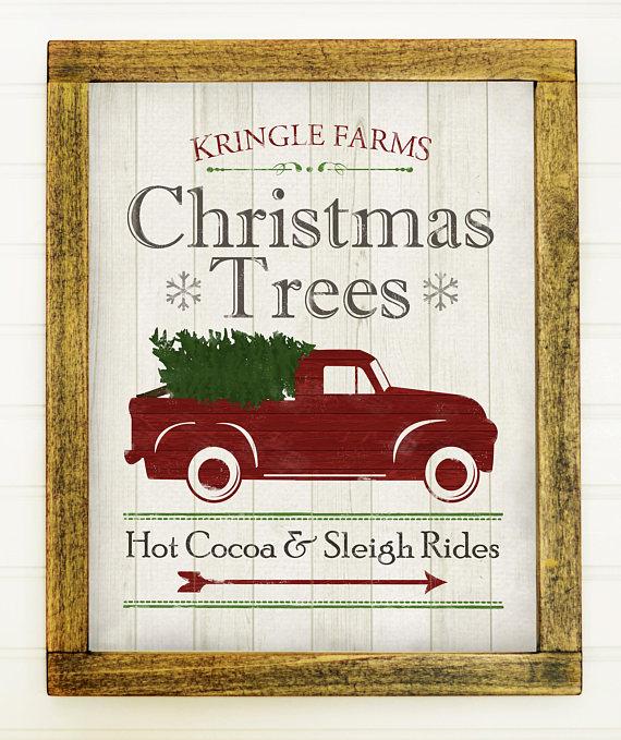 Vintage Christmas Printable Farmhouse Christmas Printable