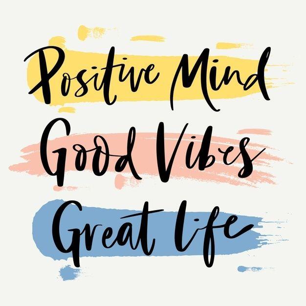 Download Positive Mind Lettering Concept for free