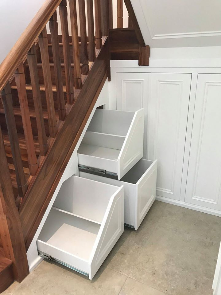 Easy Under Stair Storage with Accuride Drawer Slides Understairs Storage Accuride drawer Easy ...