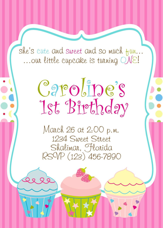 Cupcake 5x7 Printable Party Invitation