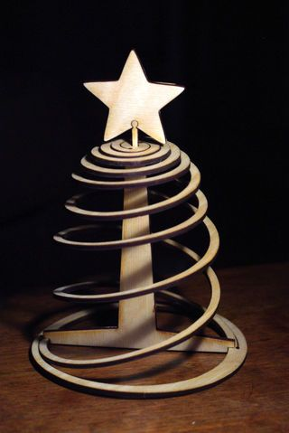 Easy Three Piece Flat Pack Christmas Tree Wooden christmas