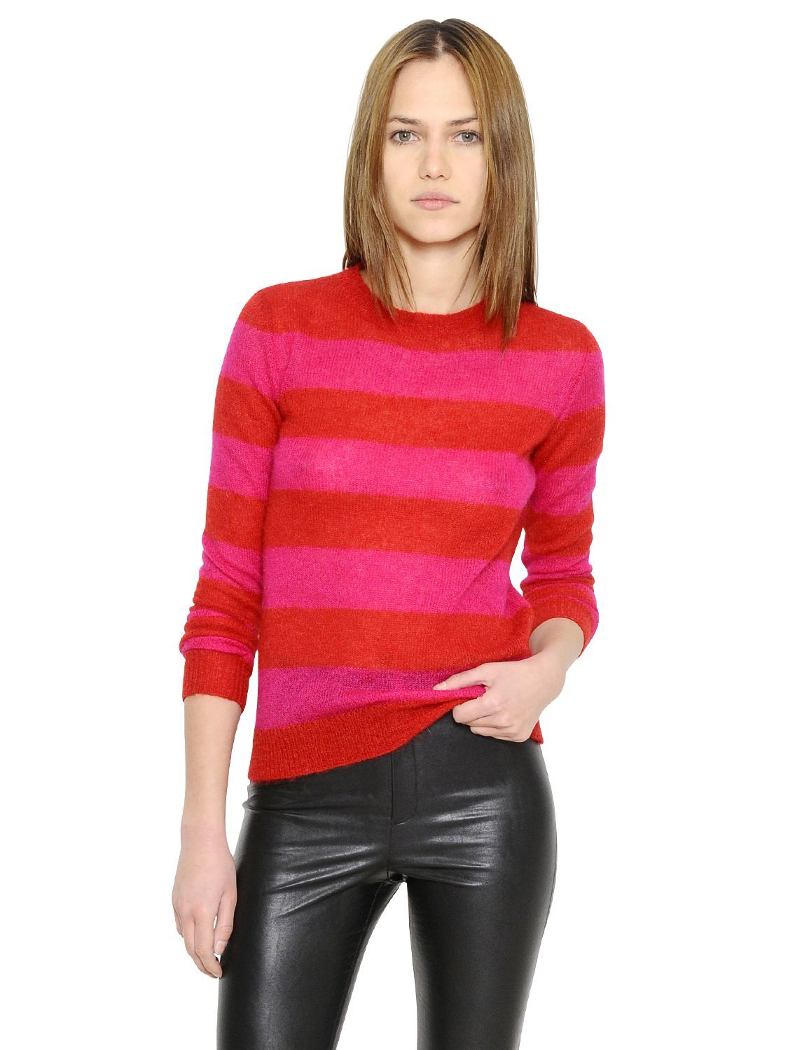 isabel-marant-etoile-redfuchsia-striped-mohair-wool-sweater-red ...