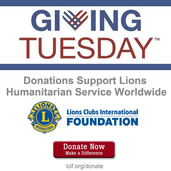 Mar 446 Advertising And Promotions: Lcif.org/donate #GivingTuesday Lions Members Can Download