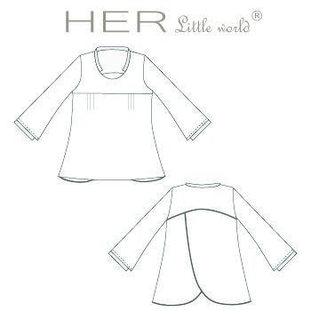 HER Little world, Patron de couture pour adulte : Tunique Singulière ...