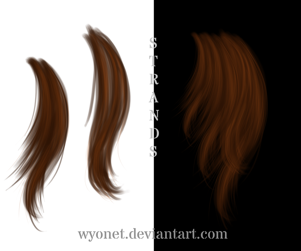 Hair Strands By Https Www Deviantart Com Wyonet On Deviantart