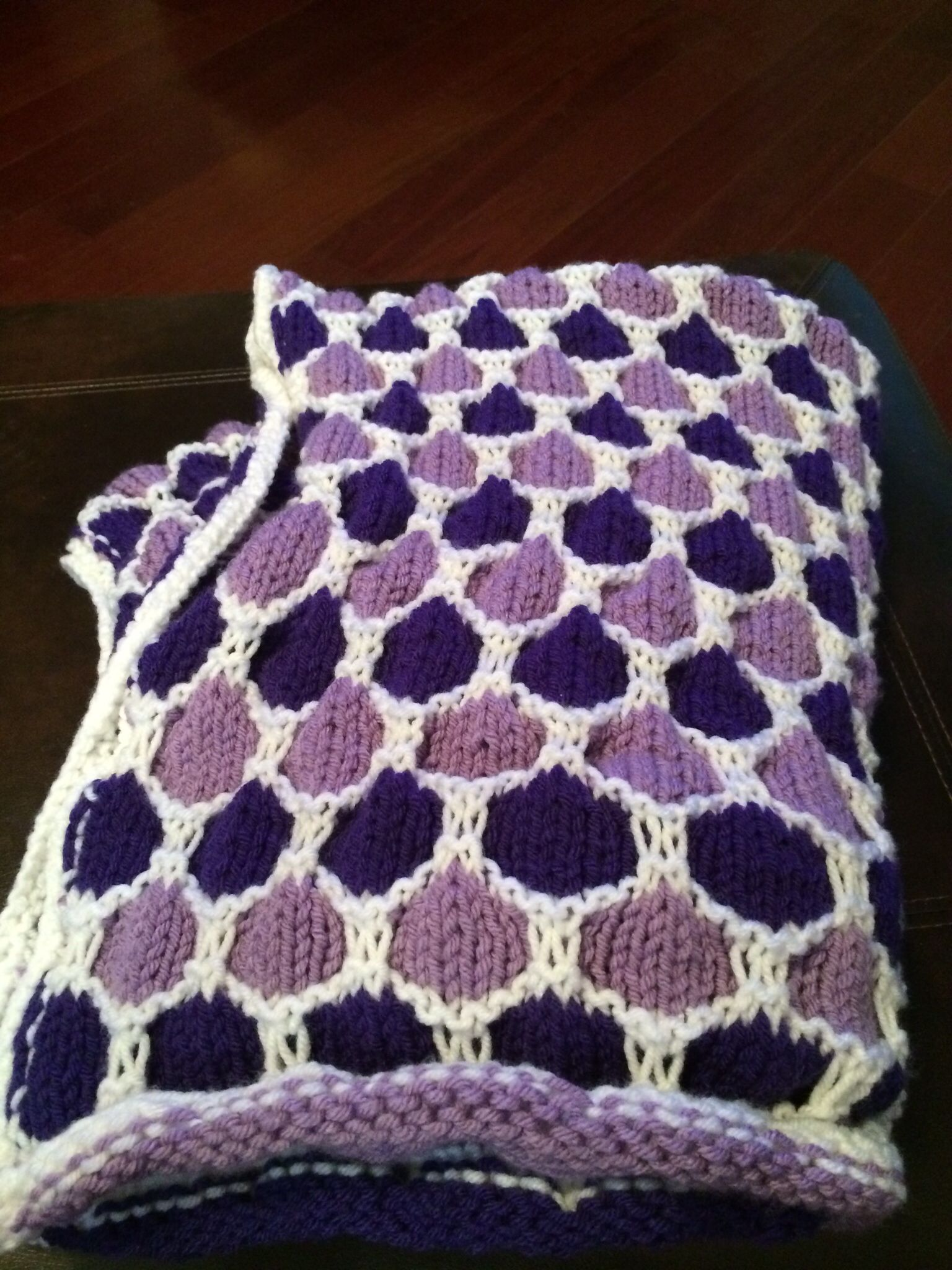 Completed Honeycomb Knit Baby Blanket | Knitting patterns ...