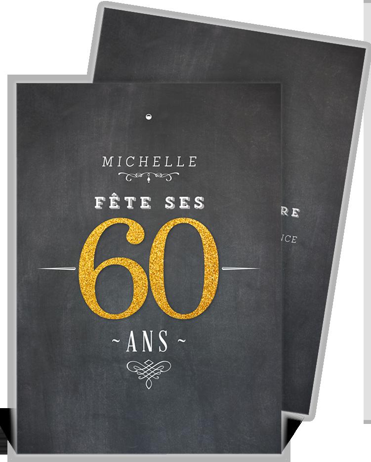 Modele Invitation Anniversaire 60 Ans