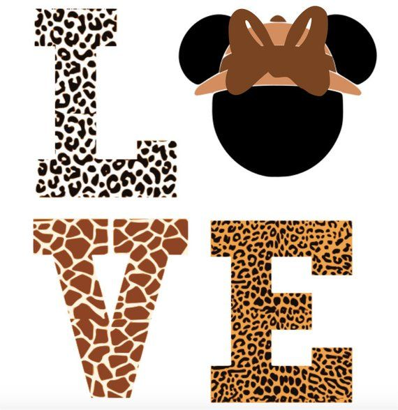 Disney Minnie Animal Print Love Animal Kingdom Safari Etsy Minnie Animal Kingdom Safari Animal Print