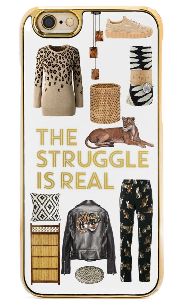 """""""Wild ideas"""" by saint-germain on Polyvore featuring BaubleBar, Dolce&Gabbana, Lands' End, Puma, Gucci, The Beach People, Amara and Storm Furniture"""