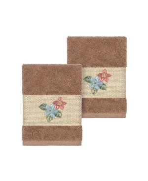 Linum Home Caroline Embroidered Turkish Cotton Bath Towels