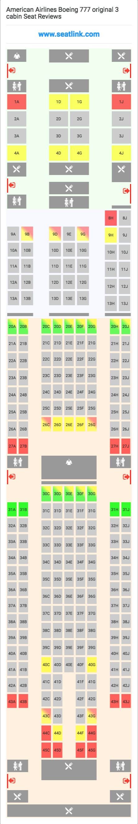 Pin On Airline Seating Charts Cabin Layouts