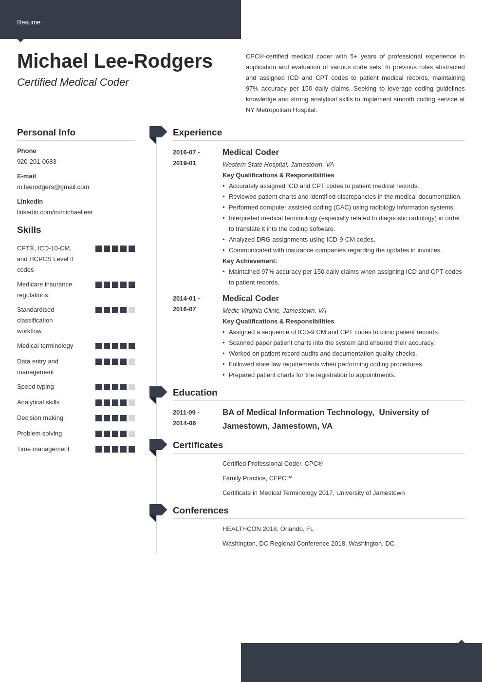Medical Coder Resume Example Template Modern Medical Coder Resume Resume Examples Medical Coder