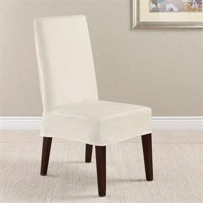 Sure Fit Slipcovers 04729339 Twill Supreme NT Short Dining Chair Slipcover