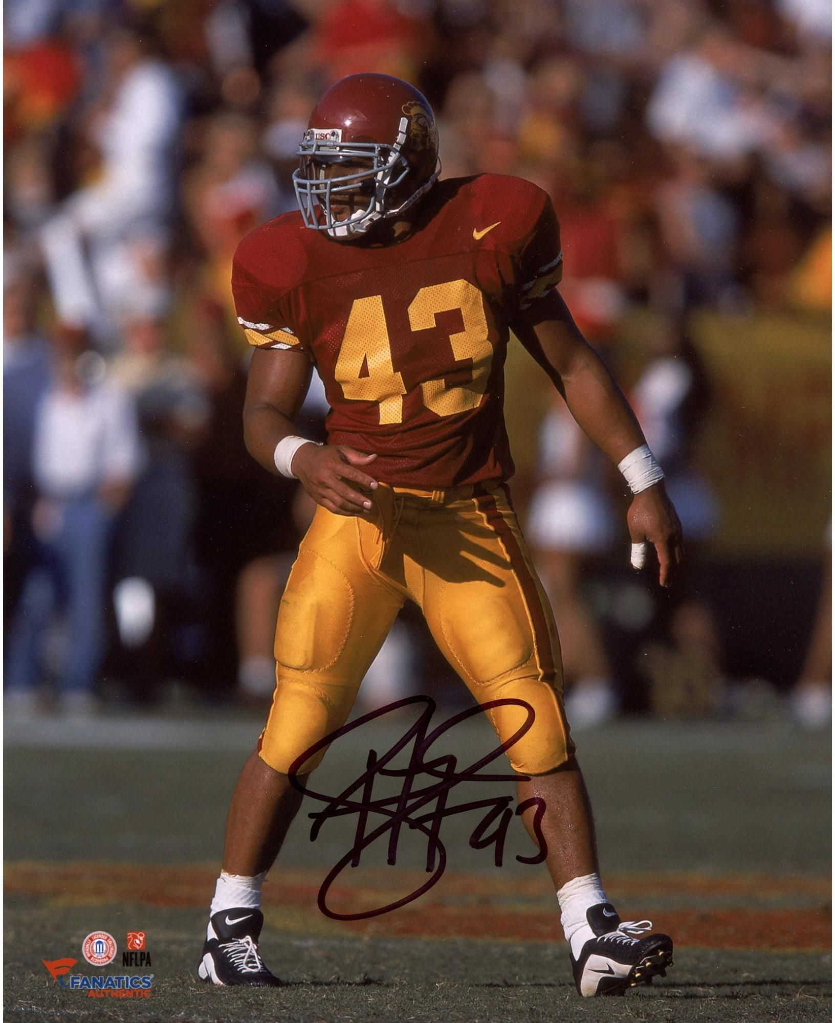 8fcbbbb0ed4 ... Football Jerseys Troy Polamalu USC Trojans Autographed ...