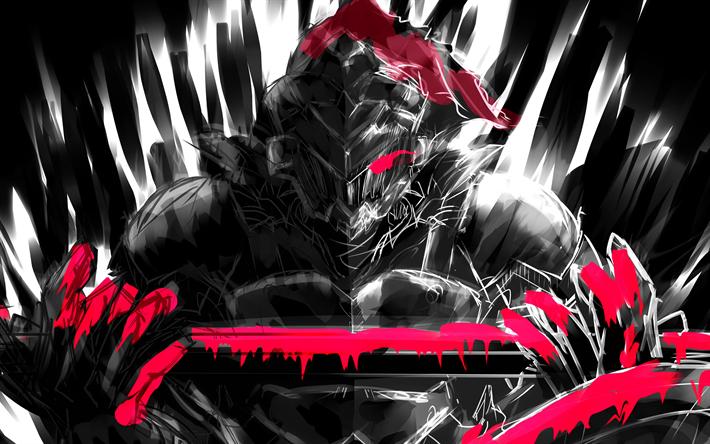 Download wallpapers Goblin Slayer, grunge, novel, manga