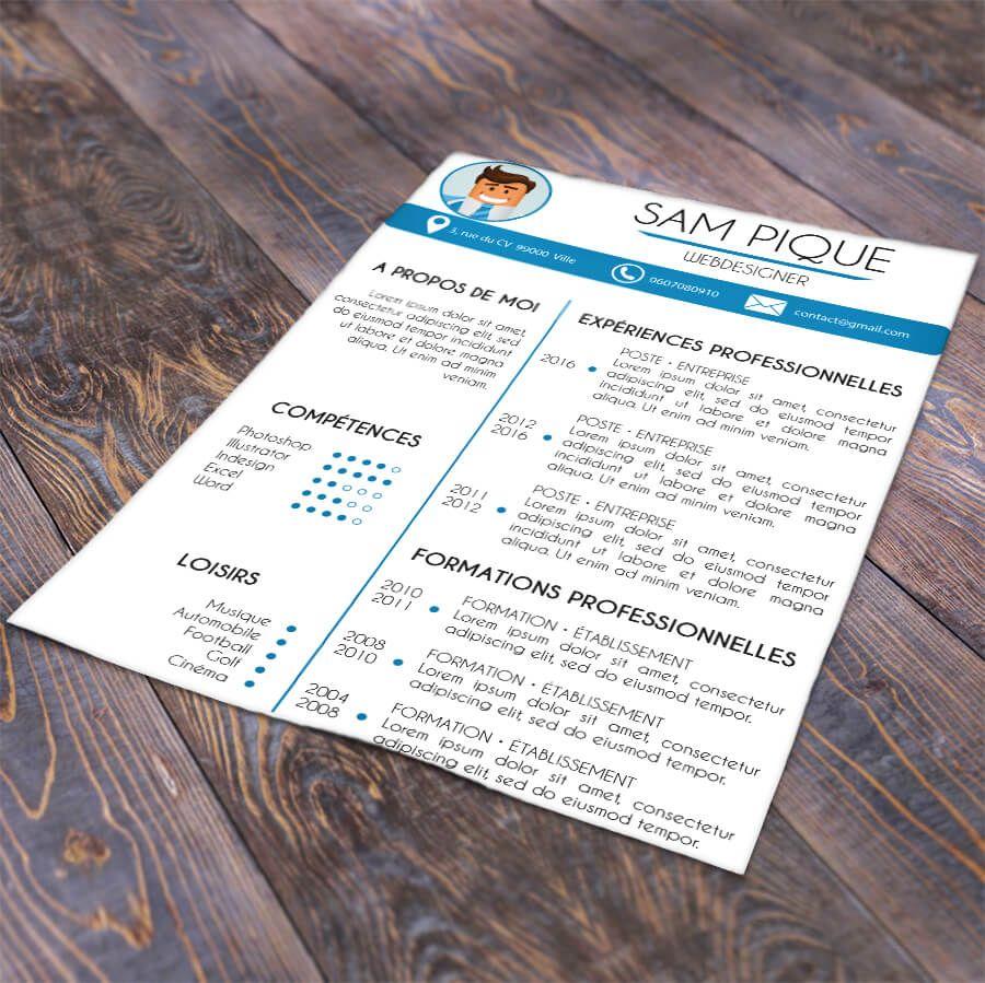 Modèle CV simple à télécharger et remplir en ligne pour