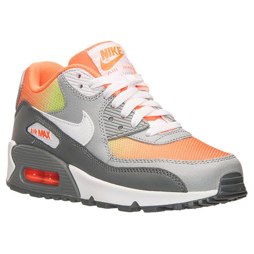 buy online ebafd cc938 Boys Grade School Nike Air Max 90 Premium Leather Running Shoes - 724882  800 Finish Line ...