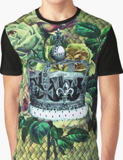 """Vintage Dreams"" -  Royal Crown & Roses Graphic T-Shirt"
