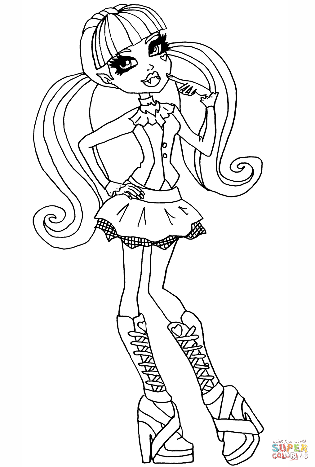 Monster High Draculaura coloring page | Free Printable Coloring ...