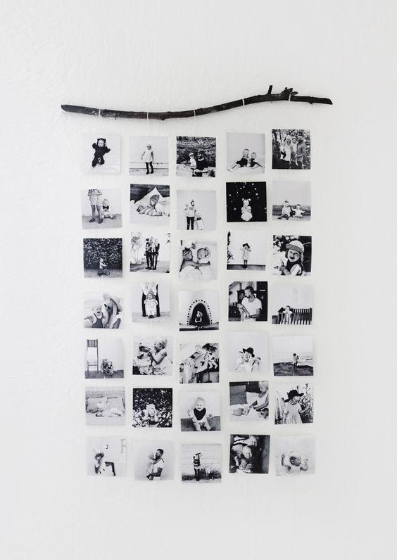 Mural colgante de fotos estilo nórdico Estilo nórdico, Murales y