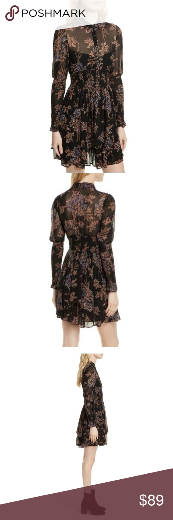 366aa661a1 Free People Baby Doll Peasant Floral Print Dress Your polished style is  only elevated with this