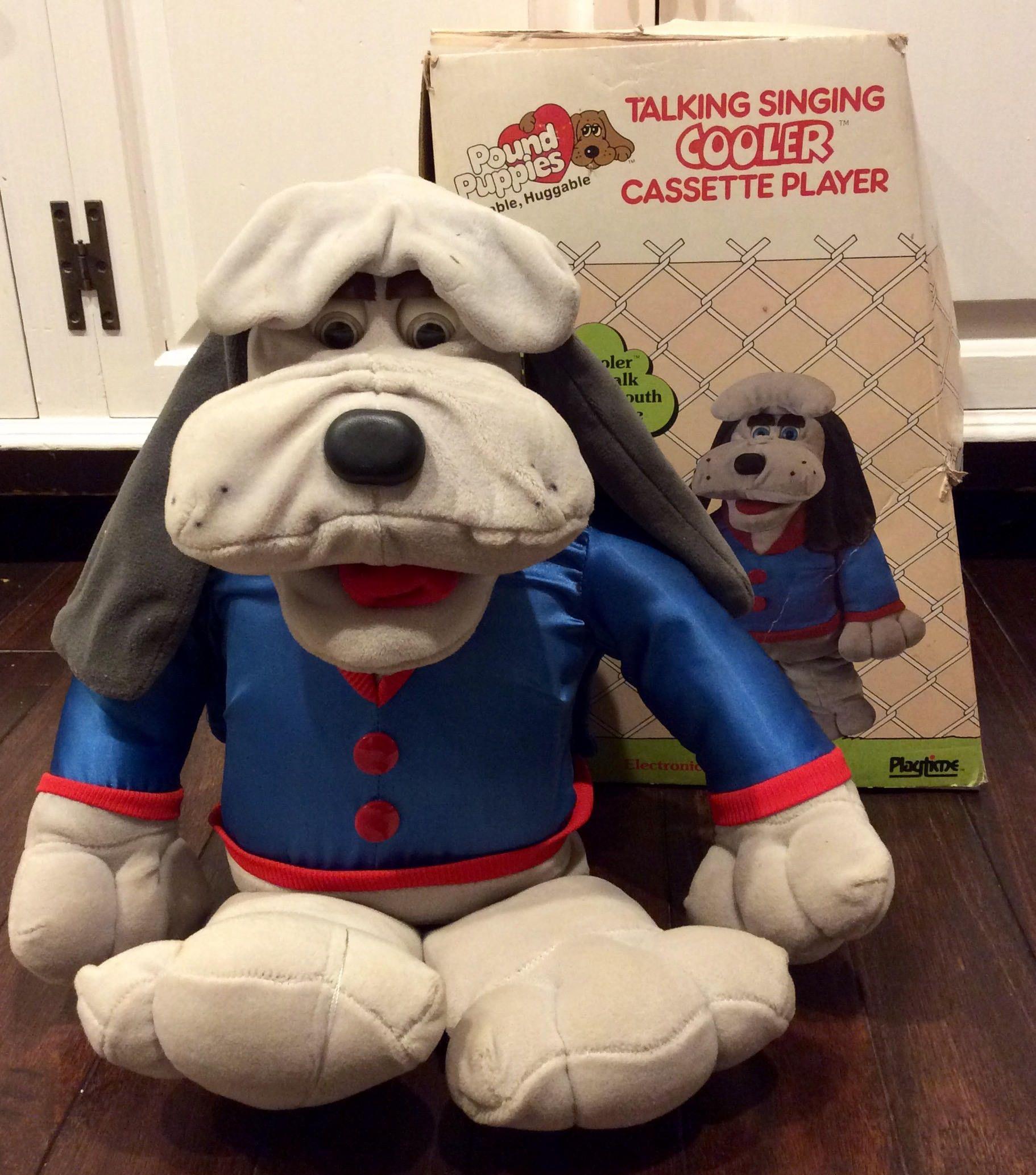 "RARE 1986 Pound Puppies ""Cooler"" Animated Plush IOB by Tonka"