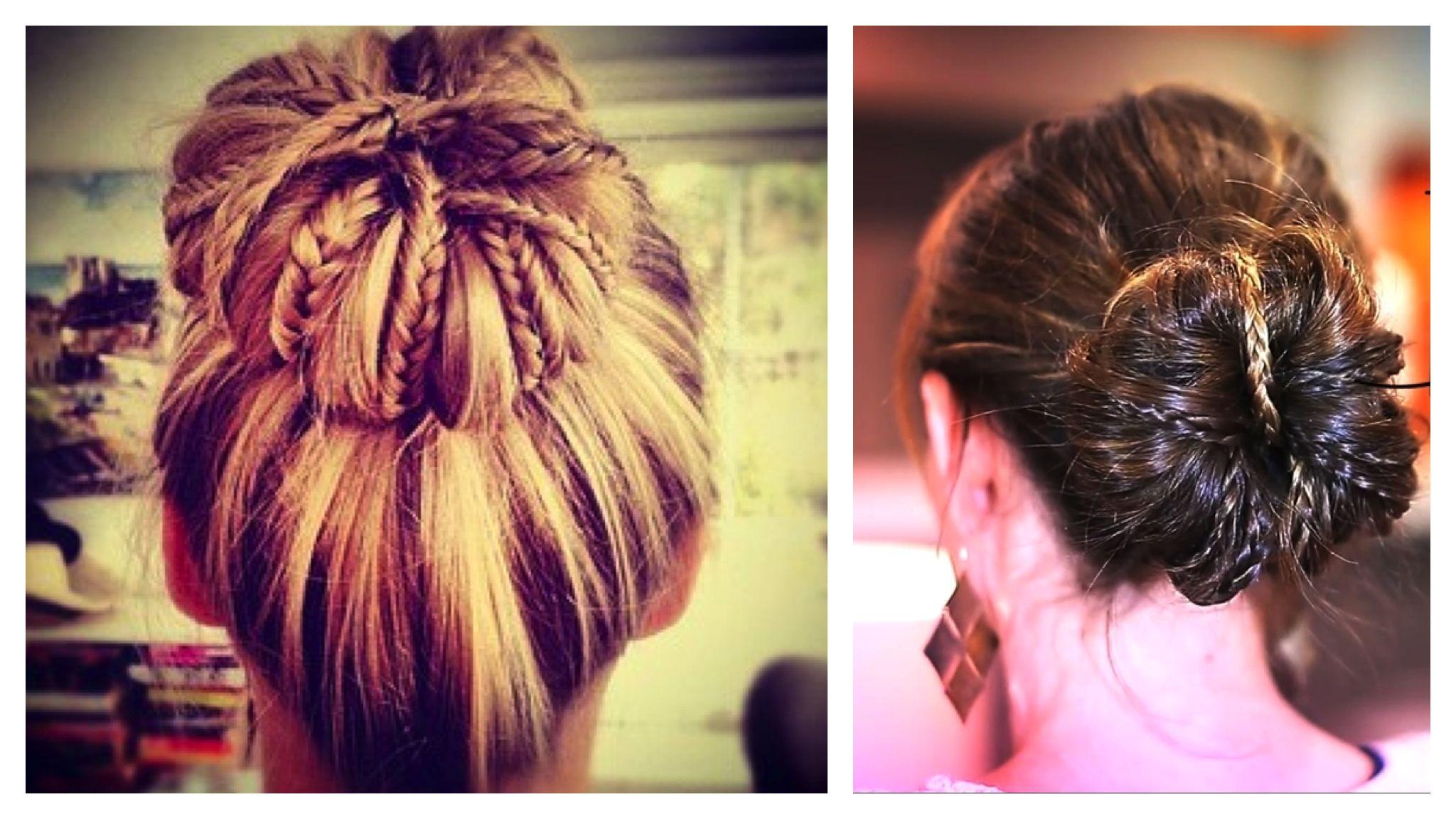 Cheer hairstyles tumblrbraided buns cute girls hairstyles kcpvtgu