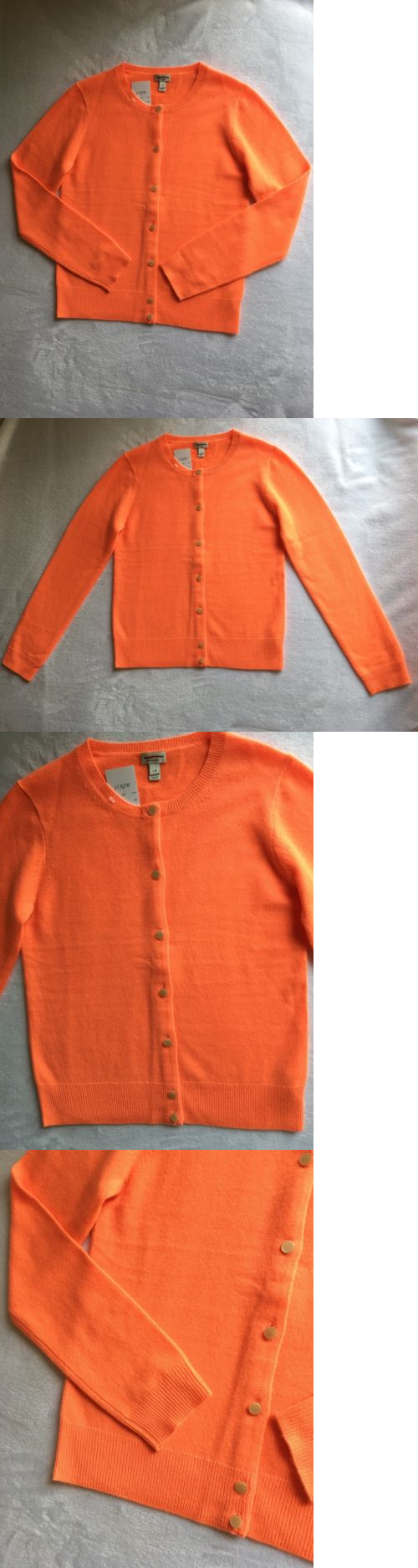 Sweaters 51582: Nwt Jcrew Crewcuts Girls Italian Cashmere Cardigan ...
