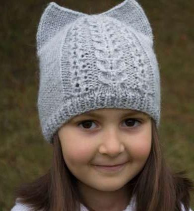 Kitty Ear Kids Hat Pattern Fiber Arts 6 Knit Crochet