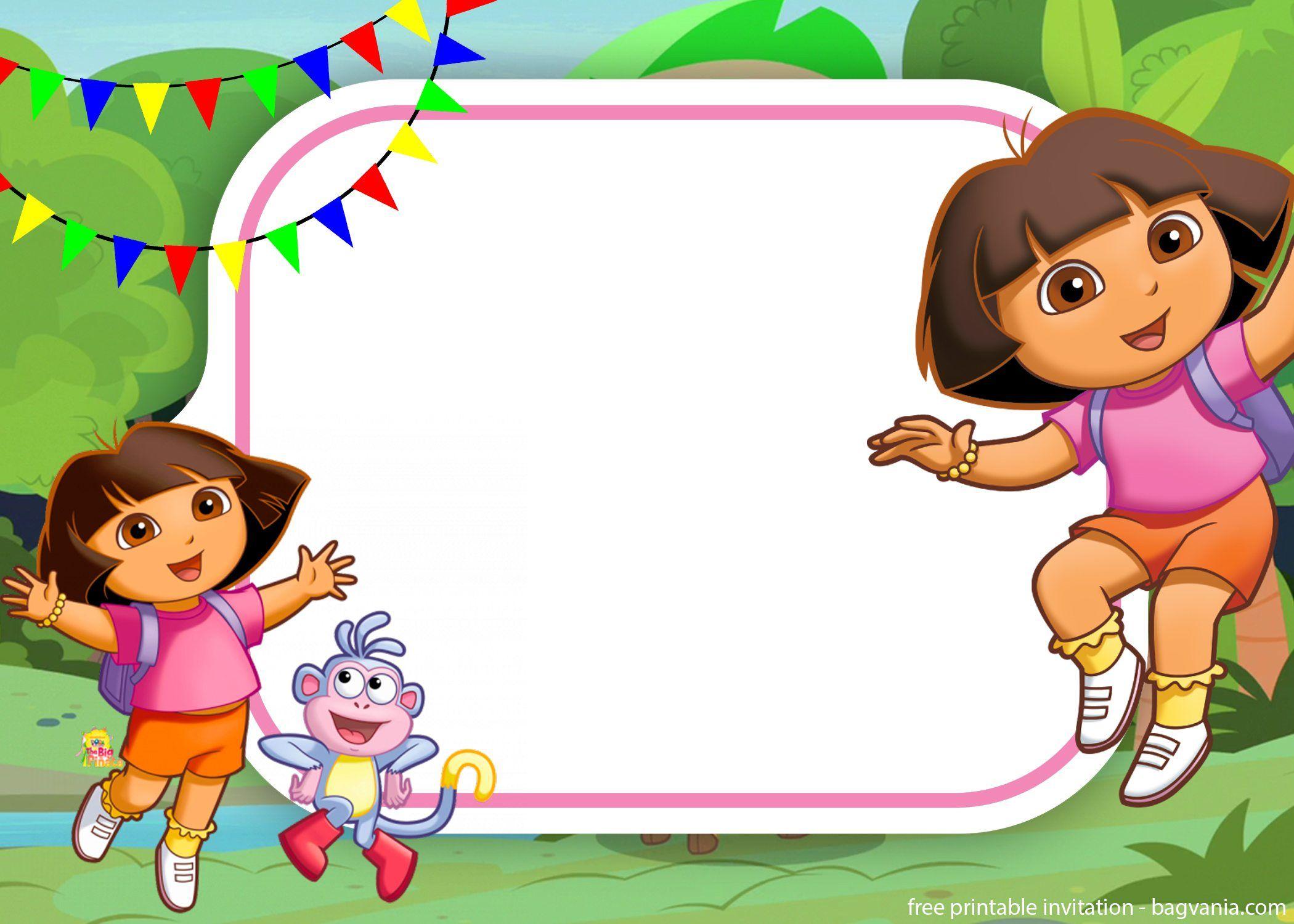Free Dora The Explorer Invitation For Your Little Explorers Explorer Birthday Party Birthday Invitations Kids Explorer Invitation