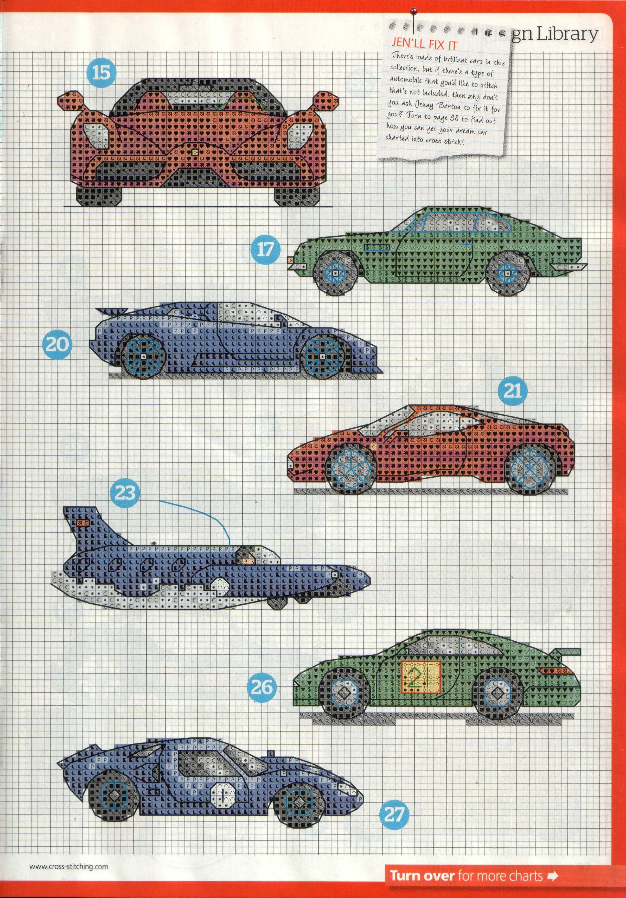 cars, cross stitch, intarsia knitting pattern :) 4 | Samko ...
