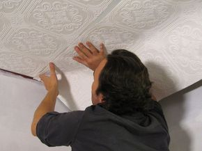 How To Hang Wallpaper On A Ceiling Wallpaper Ceiling How To Hang Wallpaper Painted Ceiling