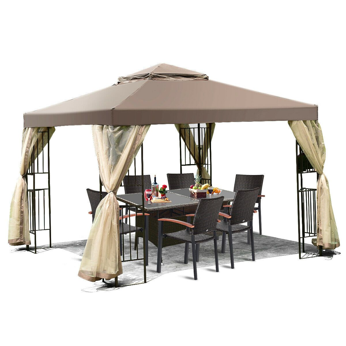 Outdoor 10 X10 Gazebo Canopy Shelter Awning Tent Patio Garden New Patio Gazebo Gazebo Canopy Canopy Tent