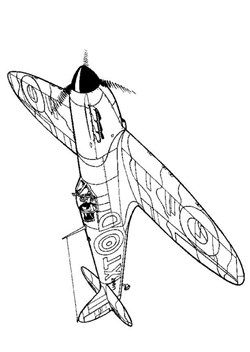 Kids-n-fun.com | 46 coloring pages of WWII Aircrafts ...