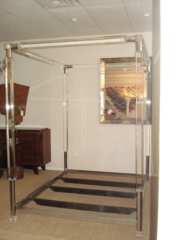 Rare Four Poster Lucite Bed House Furniture Design Master Bedrooms Decor Four Poster