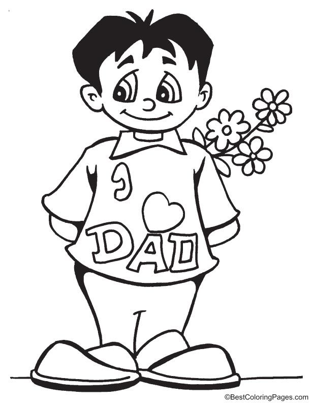 A gift for father coloring page | coloring pages | Pinterest ...