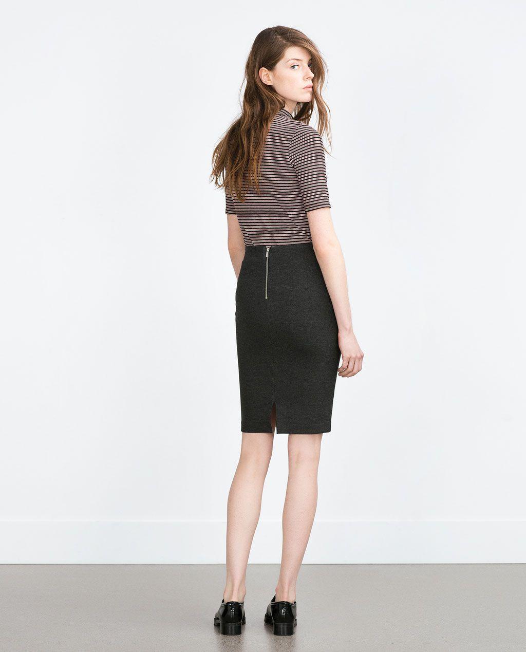 0a2a84083 Imagen 2 de FALDA TUBO de Zara | Basics | Faldas tubo, Faldas y Ropa