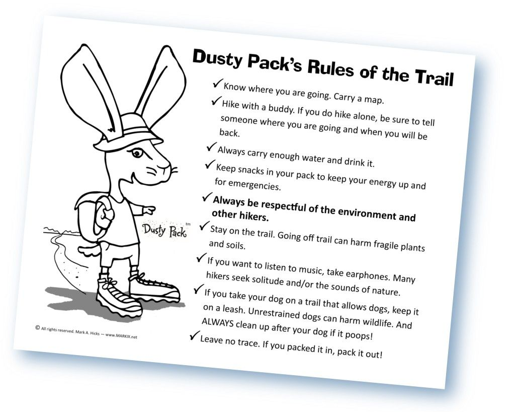 Meet Dusty Pack Tm The Hiking Backpacking Jackrabbit Go To His Website