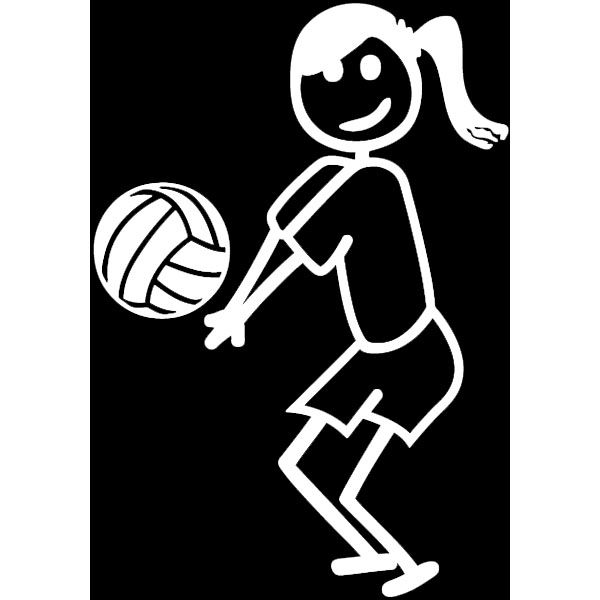 Volleyball Passer Decal Volleyball Gifts All Volleyball Stick Figure Drawing
