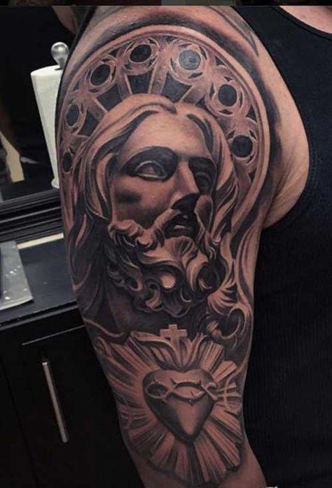 50 Tatuagens De Jesus Cristo Braço Costas Barriga Perna